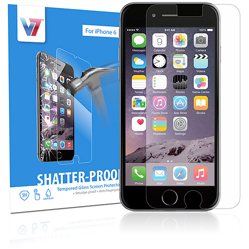 V7 Apple iPhone 6 Shatterproof Tempered Glass Screen Protector
