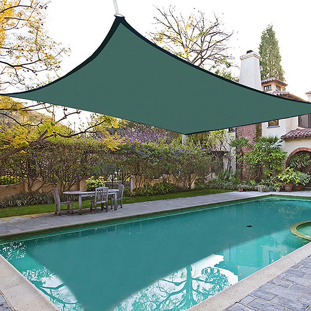 18x18' Square Sun Shade Sail Patio Deck Beach Garden Outdoor Canopy Cover Uv Blocking (Green) by Yescom