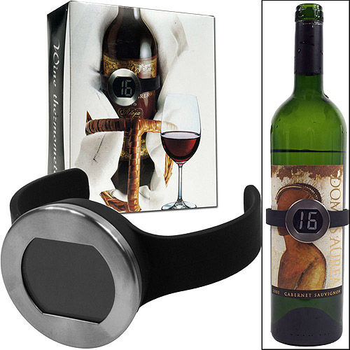 Trademark Home Wine Bottle Thermometer with Digital Display