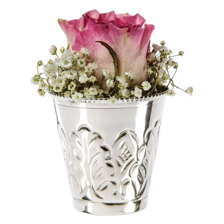 Mint Julep Cup (2.75-Inch, Gloria Design Silver Plated Solid (Silver Plated Solid Brass)