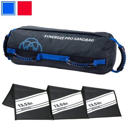 Synergee Adjustable Fitness Sandbag with Filler Bags 10-100lbs Heavy Duty