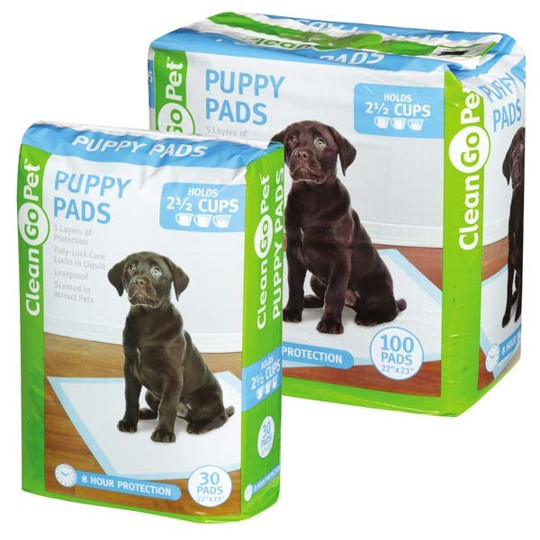 Clean go pet puppy pads, 22 in x 23 in, 100 count