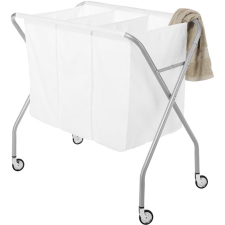 - Whitmor Deluxe Laundry Sorter, Silver