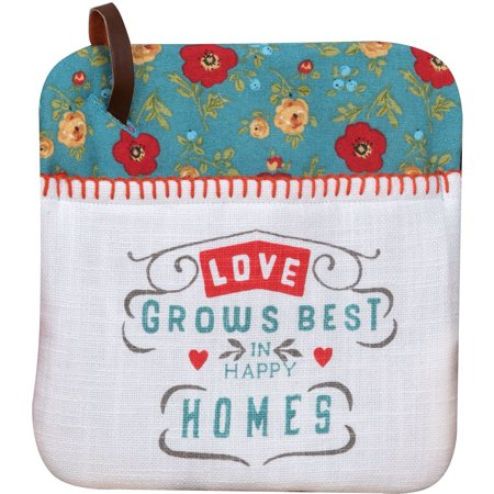 Country Fresh Love Grows Best in Happy Home Kitchen Pocket