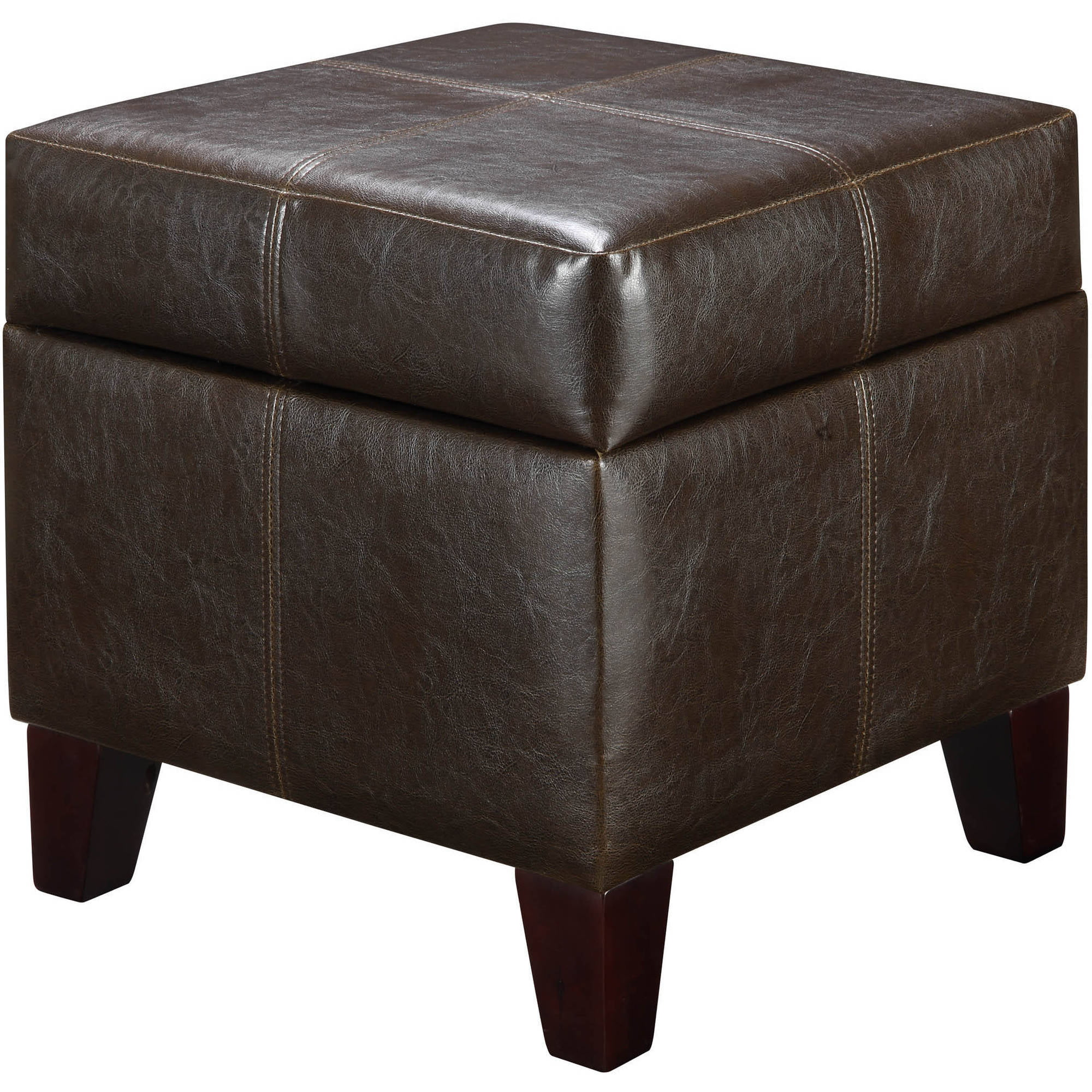 Better Homes and Gardens Faux Leather Storage Ottoman Multiple Colors - Walmart.com  sc 1 st  Walmart & Better Homes and Gardens Faux Leather Storage Ottoman Multiple ... islam-shia.org