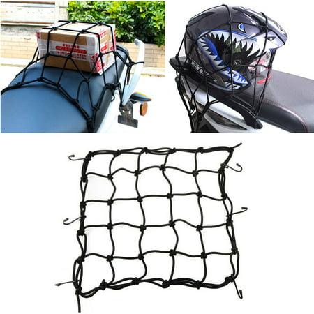TSV Adjustable Bungee Cord Cargo Net Motorcycle Helmet Mesh Storage Tie Down - Motorcycle Bungee Net