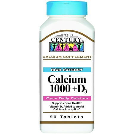 Image of 21st Century Calcium 1000 + D Tablets 90 ea