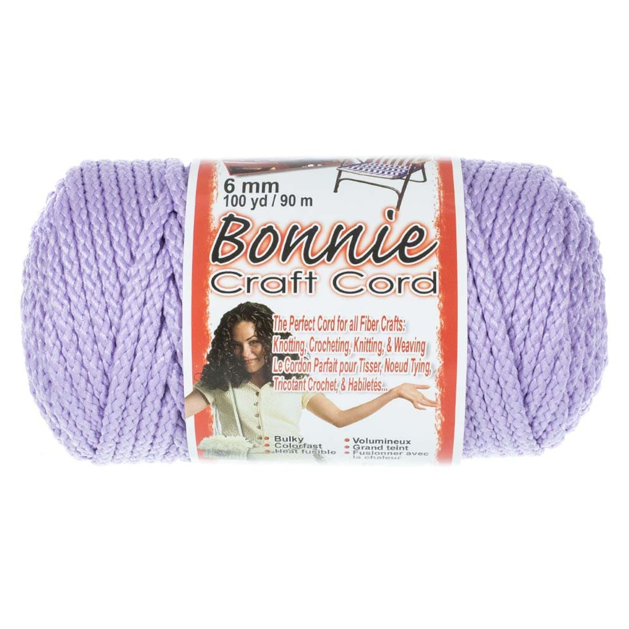 Bonnie 6mm Crafting Cord - Great for Macrame and Other Crafts - 100 yard Spools