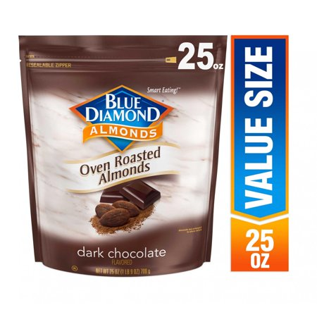 Blue Diamond Almonds, Oven Roasted Cocoa Almonds, Dark Chocolate 25 (Lounger Chocolate)