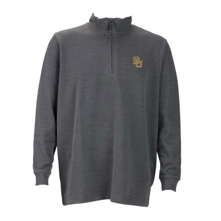 Baylor Mens 1 4 Zip Flat Back Rib Pullover  Color  Grey