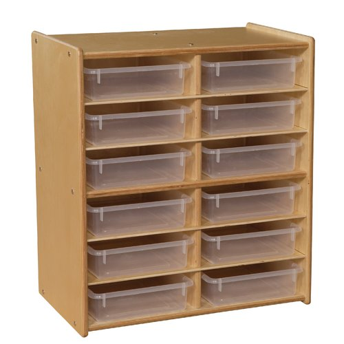 Contender Letter Storage 12 Compartment Cubby with Trays