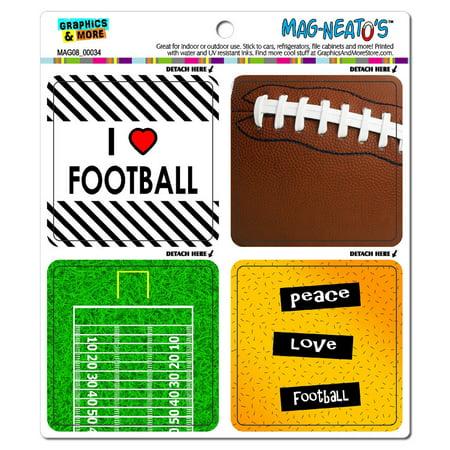 Football Player Fan Love MAG-NEATO'S(TM) Car/Refrigerator Magnet