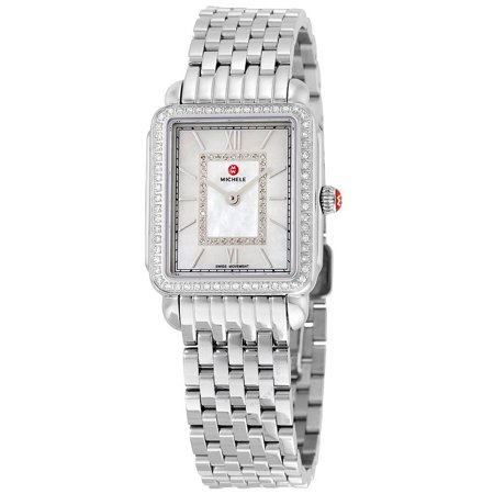 Michele MWW06I000001 Deco II Diamond Dial Watch for Ladies - Mother of Pearl