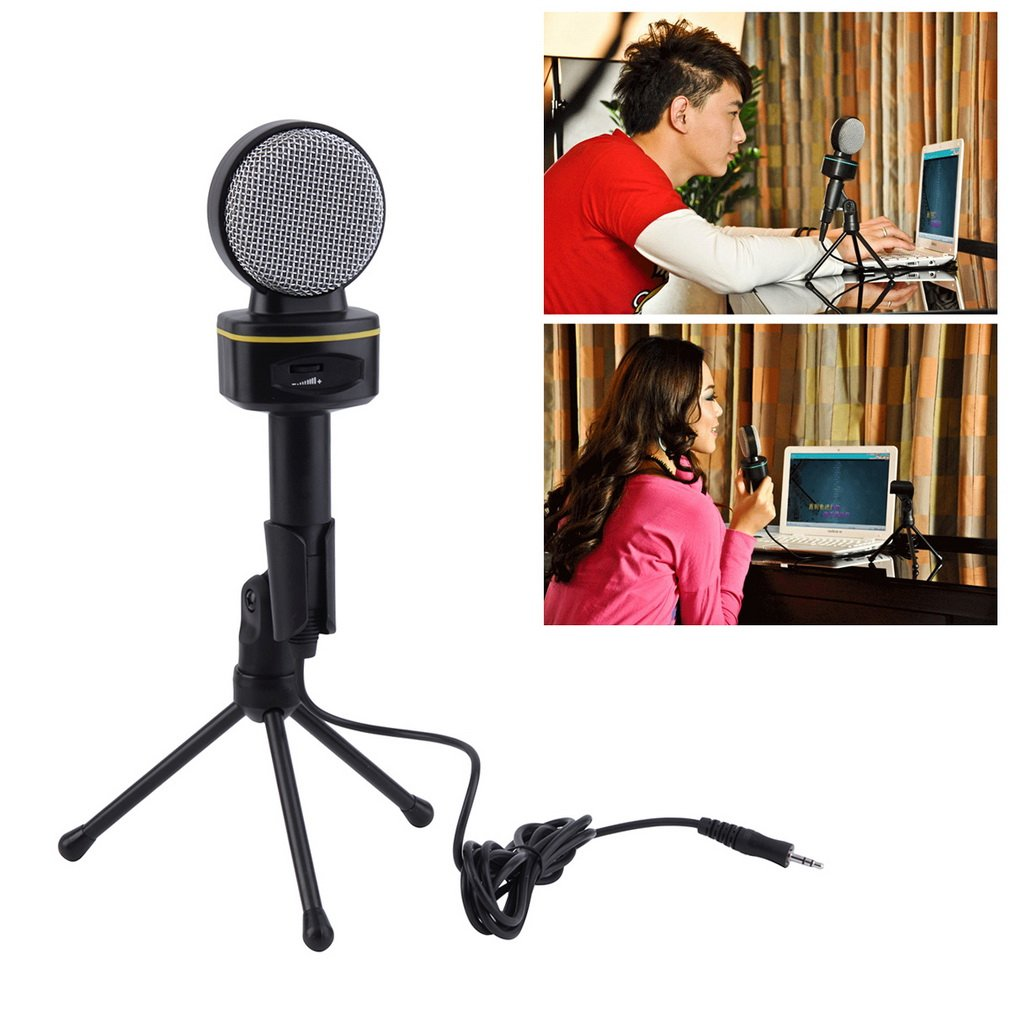 Professional 3.5mm Studio Microphone Mic For Skype Desktop PC Notebook