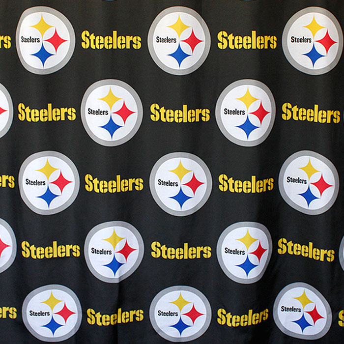 Northwest NFL Pittsburgh Steelers Shower Curtain Football...
