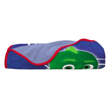 PJ Masks Plush Throw, Kids Bedding, 46? x 60?, Catboy, Gekko, and Owlette