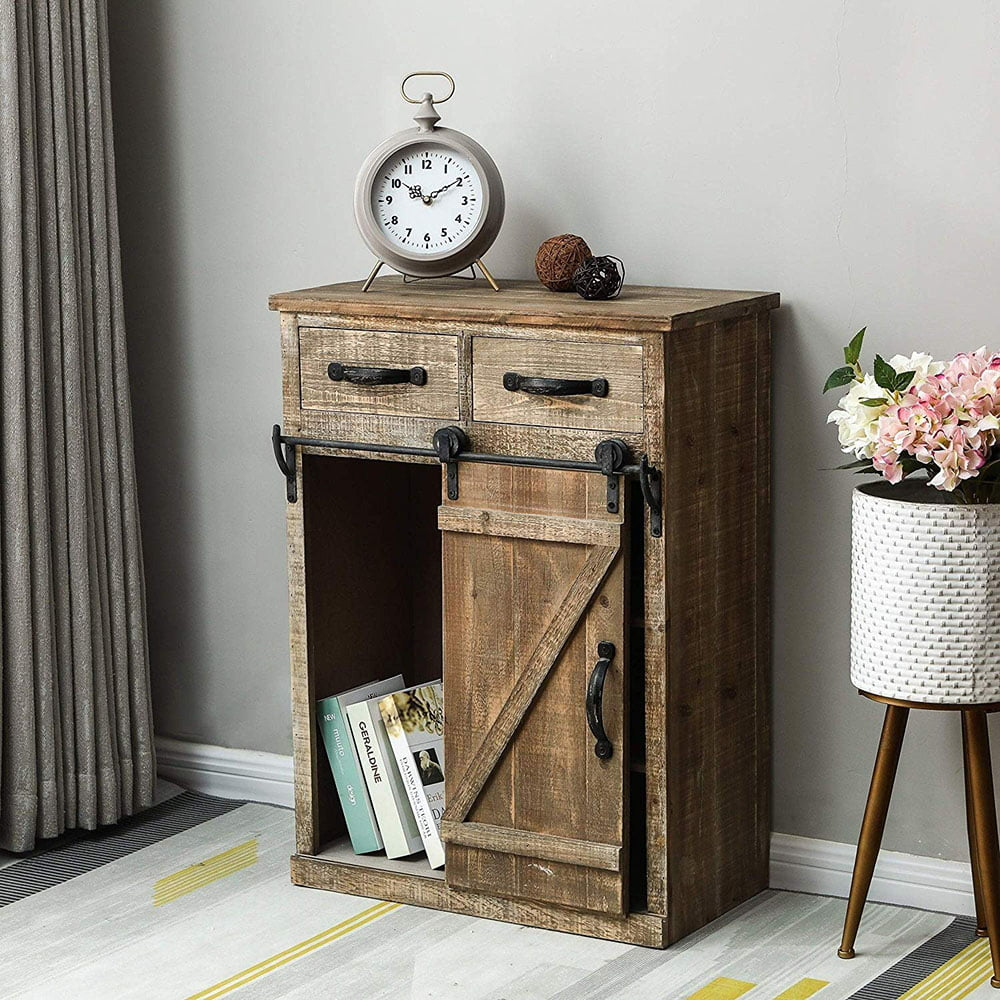"""wood console cabinet for living room 32""""height rustic"""