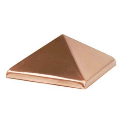 """Waddell Manufacturing 230 4"""" x 4"""" Copper Pyramid Post Cap"""