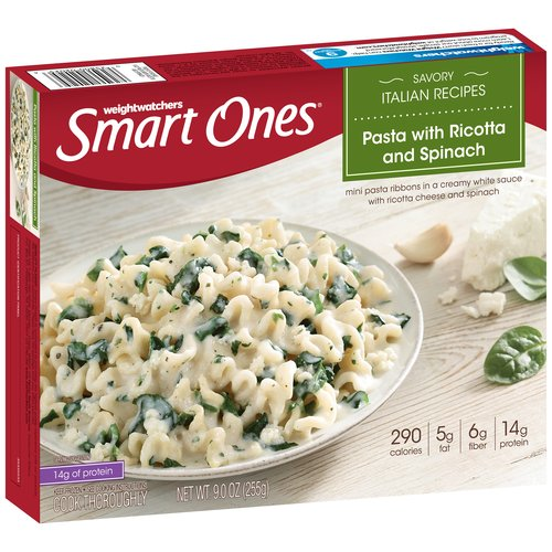 Weight Watchers Smart Ones Savory Italian Recipes Pasta with Ricotta and Spinach, 9 oz