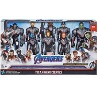 Marvel Titan Hero Series Iron Man, Capt. America, Hulk, Black Widow, Thor, Nebula, Rocket Raccoon & War Machine Action Figure 8-Pack