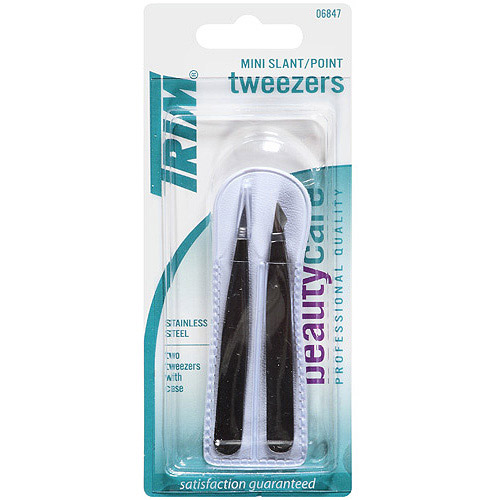 Trim Beautycare Mini Slant/Point Tweezers, 3 pc