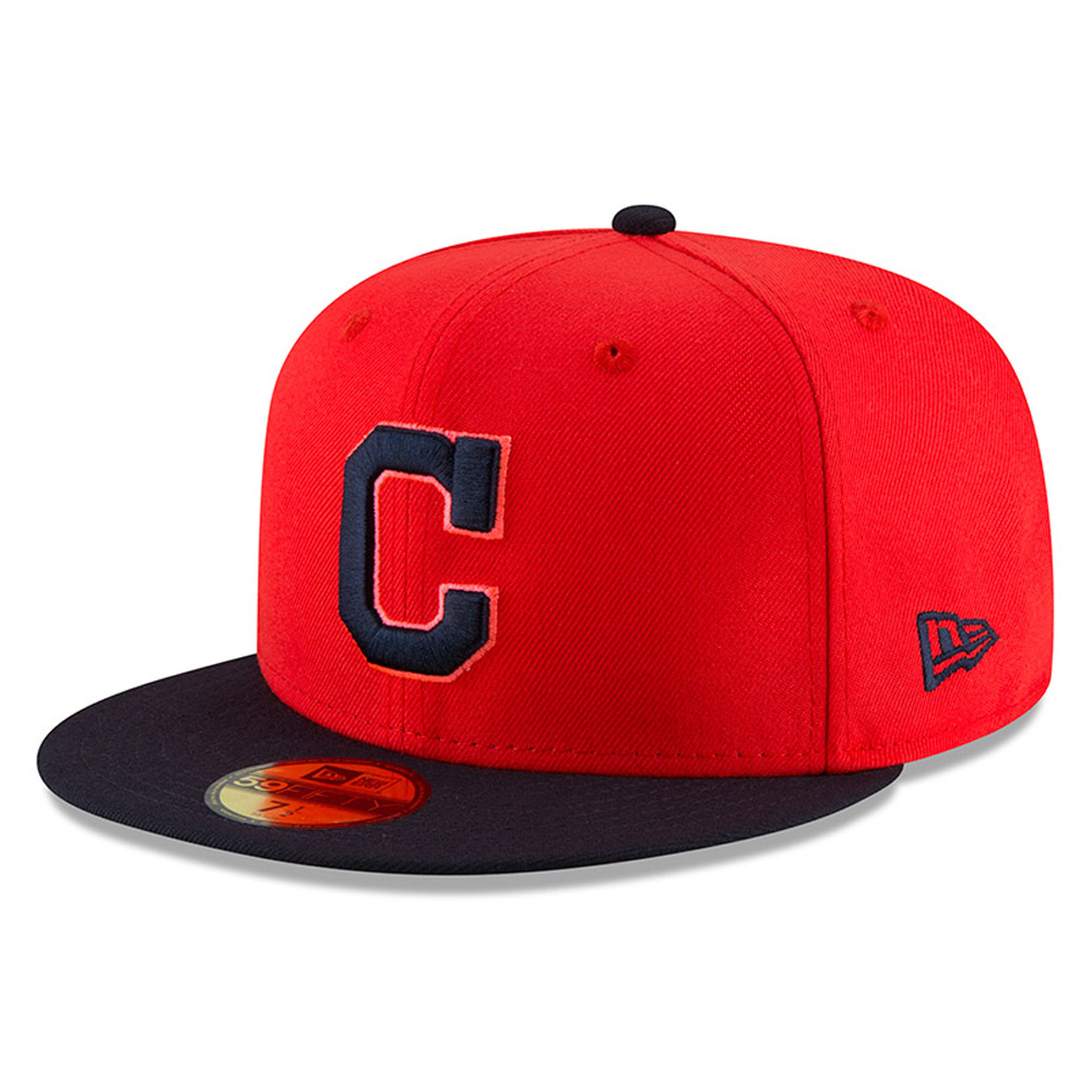 Cleveland Indians New Era Youth 2018 Players' Weekend On-Field 59FIFTY Fitted Hat - Red/Navy