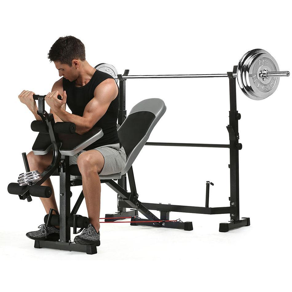 Home Gym Fitness Weight Bench Olympic Weight Bench Multi-Function Workout Bench Exercise Equipment SPPYY by