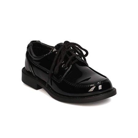 Boy Dress Shoes (Auston Boys Patent Leatherette Lace Up Dress)