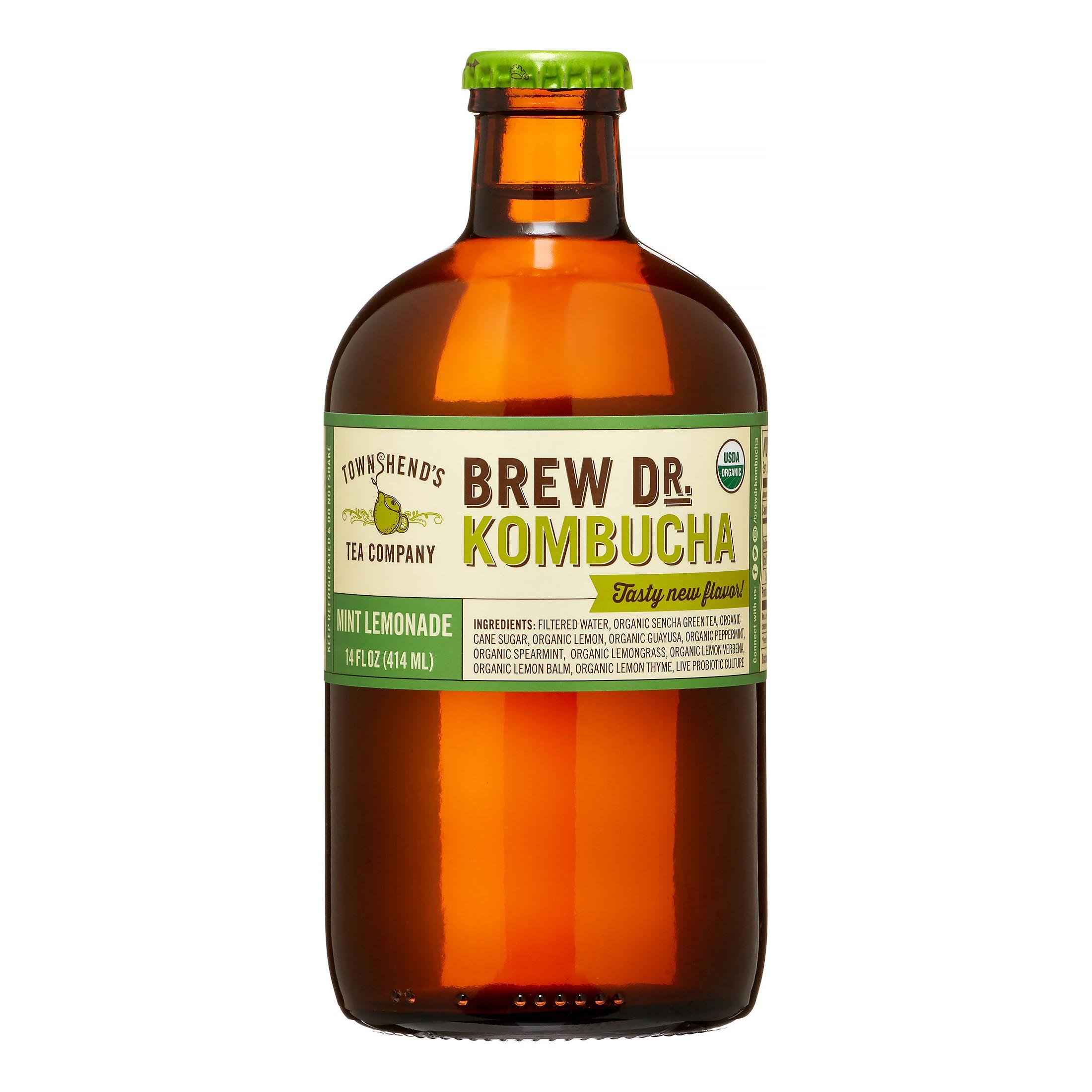 Brew Dr. Kombucha Mint Lemonade, 14 fl oz