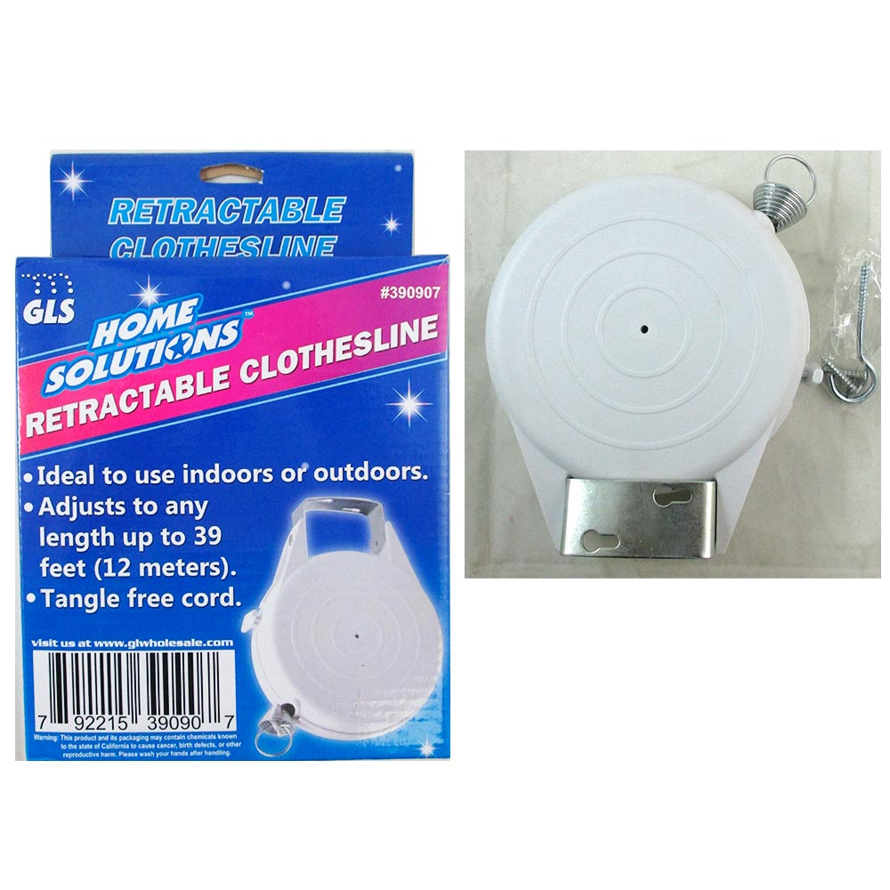 QNP RRG 1 Indoor Outdoor 39 Ft Retractable Laundry Clothesline Washing Clothes Line New