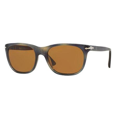 a2edf91908 Persol - Persol Sunglasses PO3102   Frame  Striped Grey Havana Lens  Brown  (53mm) - Walmart.com