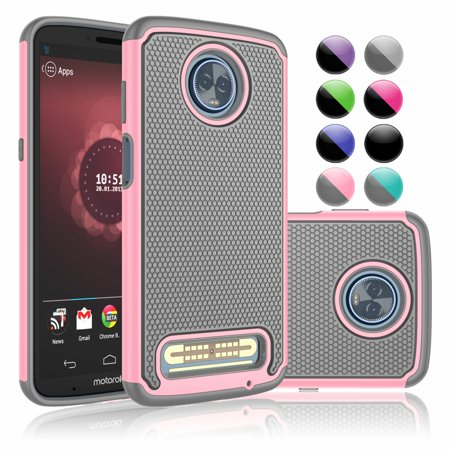 Moto Z3 Play Case, Moto Z3 Play Droid Cases For Girls, Njjex [Shock Absorption] Drop Protection Hybrid Dual Layer Armor Defender Protective Case Cover For Motorola Moto Z Play 2018 Released -Baby