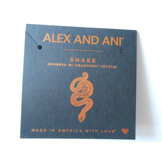 Alex And Ani Path Of Symbols Snake With Crystal Expandable Wire