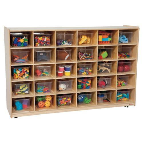 Wood Designs Natural 30 Tray Storage with Trays