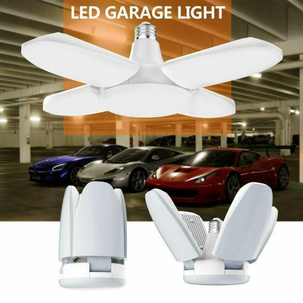 Led Garage Lights Led Garage Lighting 60w Deformable Garage Ceiling Lights Panels Shop Lights Led Light Bulb For Garage Basement Workshop Walmart Com Walmart Com