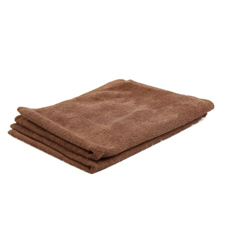 2 Pcs Water Absorbent Microfiber Fabric Car Clean Cloth Towel No-scratched for Auto Car Coffee Color