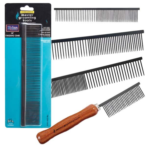 Master Grooming Tools Xylan Comb Fine/Crse 7.5in