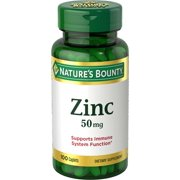 Nature's Bounty Zinc 50 mg, Supports Immune System Caplets, 100 Ct