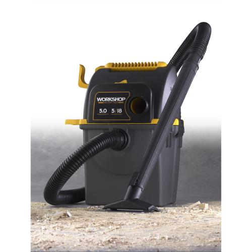 WORKSHOP Wet Dry Vac WS0500WM Wet/ Dry 5.0 Peak HP, 5 gal. Portable Wall Mount Garage Vacuum Cleaner