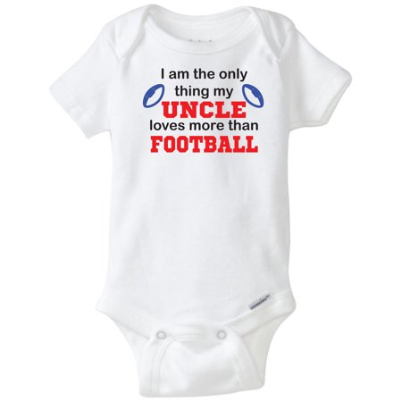 I'm The Only Thing My Uncle Loves More Than Football Funny Novelty Unisex Onesie (18