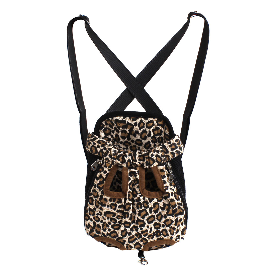 Leopard Print Adjustable Strap Release Buckle Pet Dog Outdoor Carrying Bag M