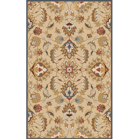 4' x 6' Flavian Blond and Lemon Grass Hand Tufted Wool Area Throw (Scatter Grass)