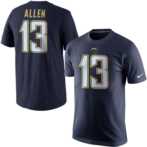 Keenan Allen Los Angeles Chargers Nike Player Name & Number T-Shirt - Navy Blue - 2XL