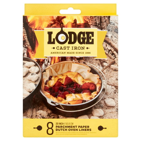 Lodge Cast Iron Parchment Paper Dutch Oven Liners, 8 count, A5DOL