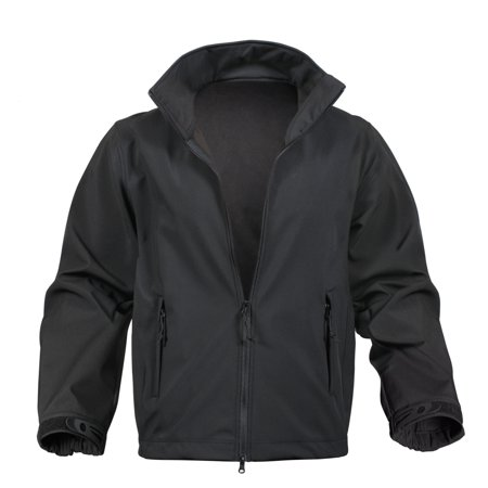 Rothco Soft Shell Waterproof Jacket, Black