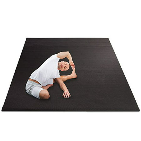 (Crown Sporting Goods 8 x 6' All Purpose Extra Large Exercise Floor for Yoga, Home Gym Equipment, and Cardio Workouts)