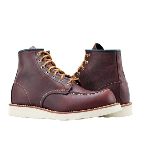 Red Wing Heritage 8138 6-Inch Brown Leather Classic Moc Toe Boots 08138 ()