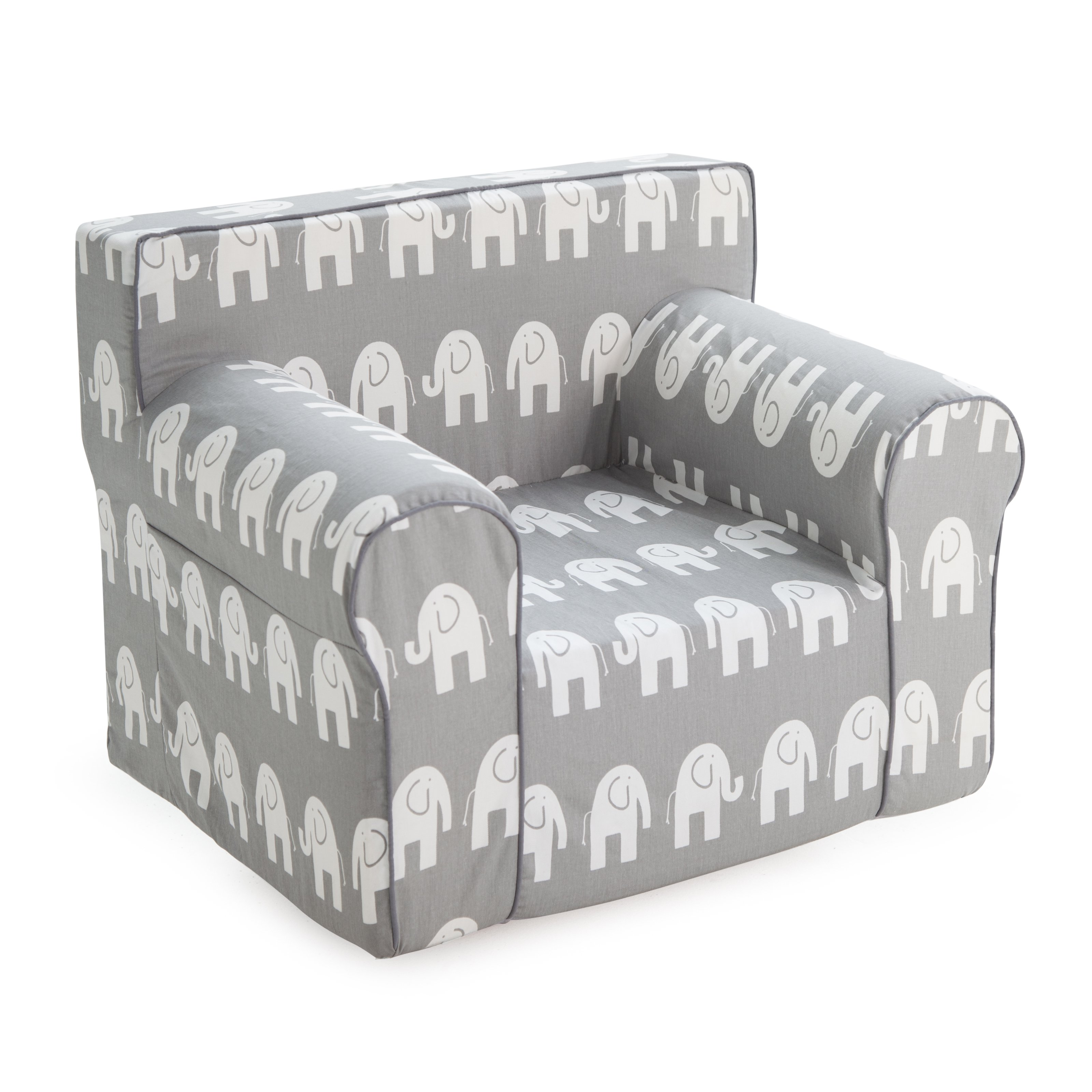 Here And There Kids Chair   Gray Elephant   Walmart.com