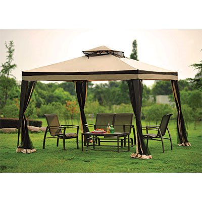 garden winds replacement canopy top for big lots double vent gazebo