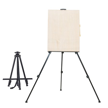 Whiteboard Stand - Ktaxon Adjustable Artist Aluminium Alloy Tripod Painters Easel Stand With Carring Bag & Drawing Board, Collapsible Exhibition Wedding Whiteboard Holder Floor Studio